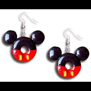 Fun Mickey Mouse Donuts Earrings